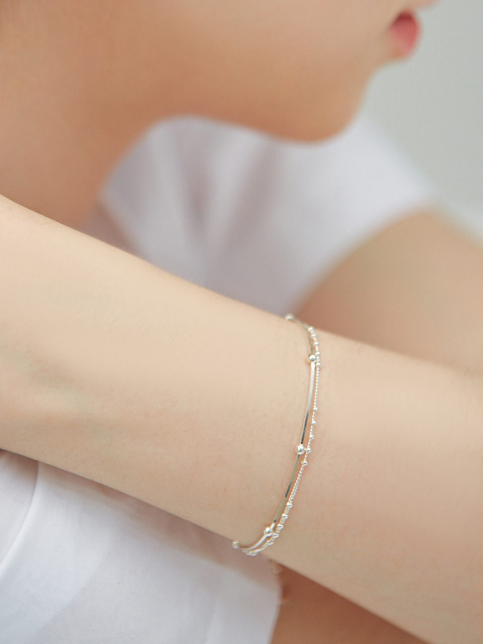 [정인선 착용] layered ball bracelet