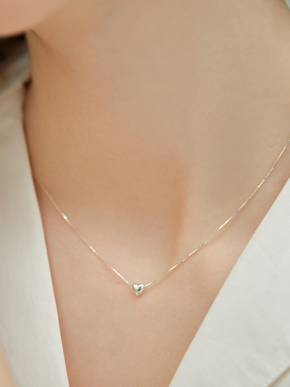 [오하영 착용] petit heart necklace