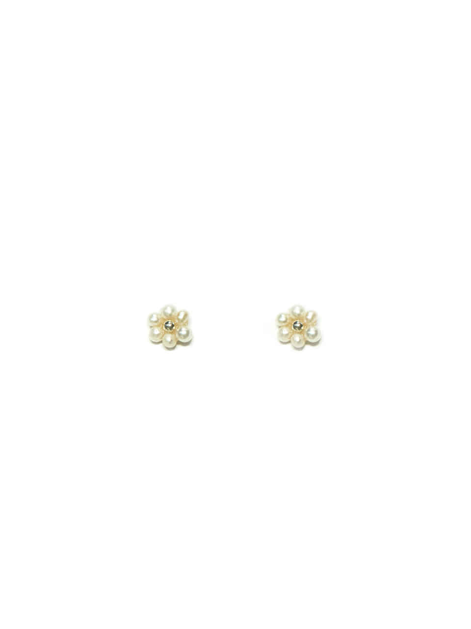 mini pearl flower earring