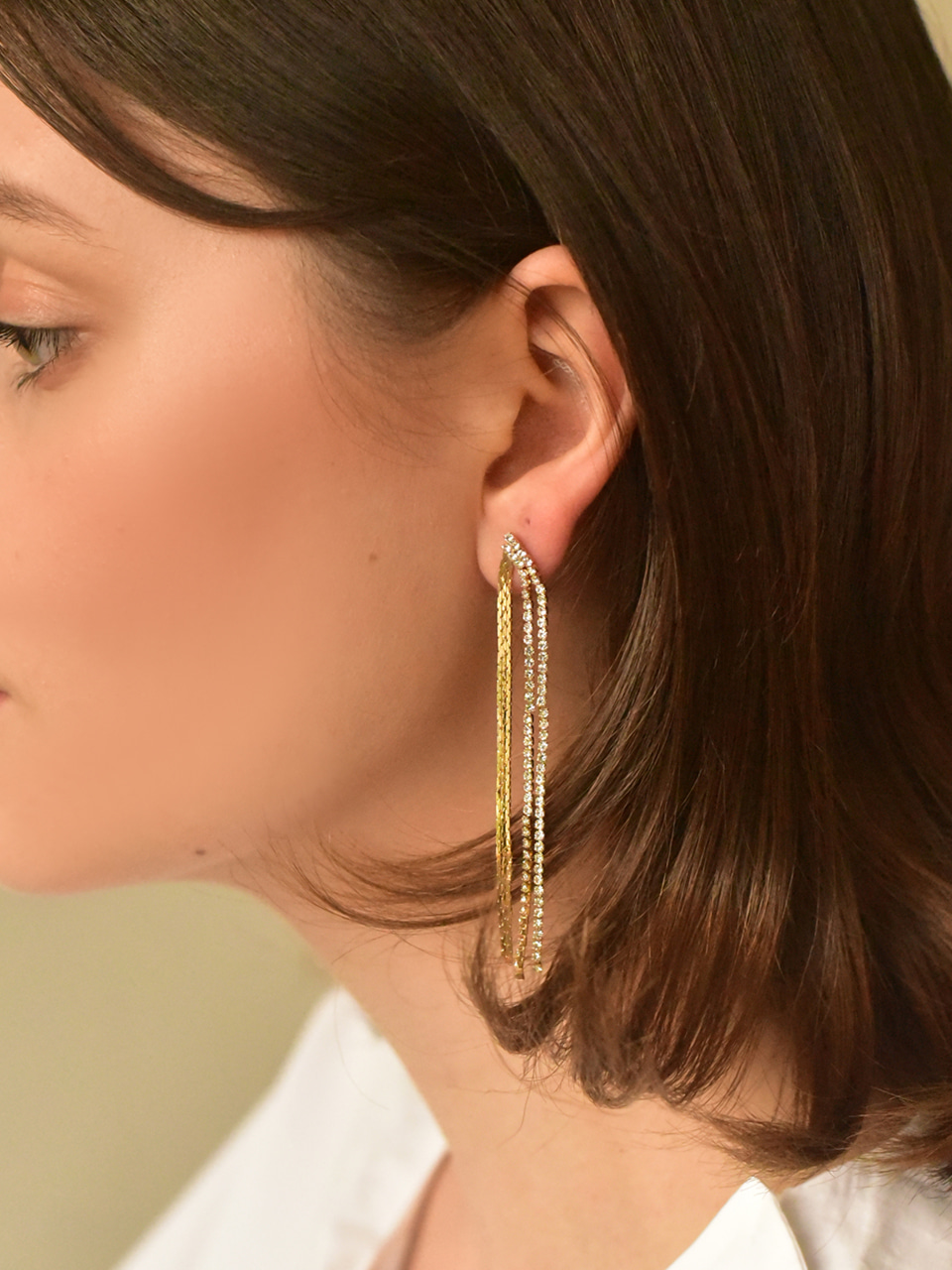 [*Holiday Mood*] shiny swarovski shade earring