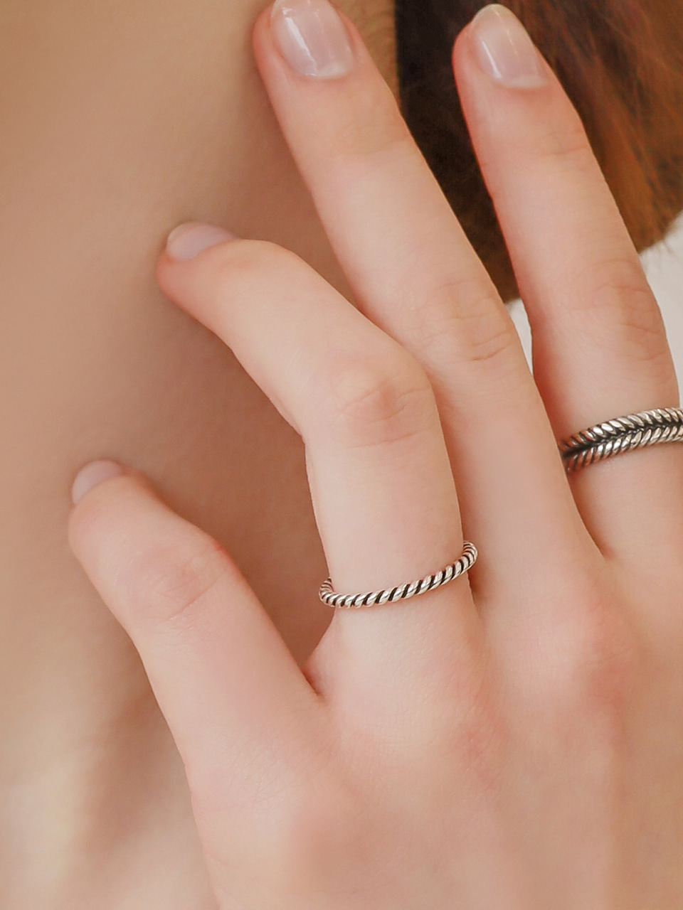 simple antique rope ring