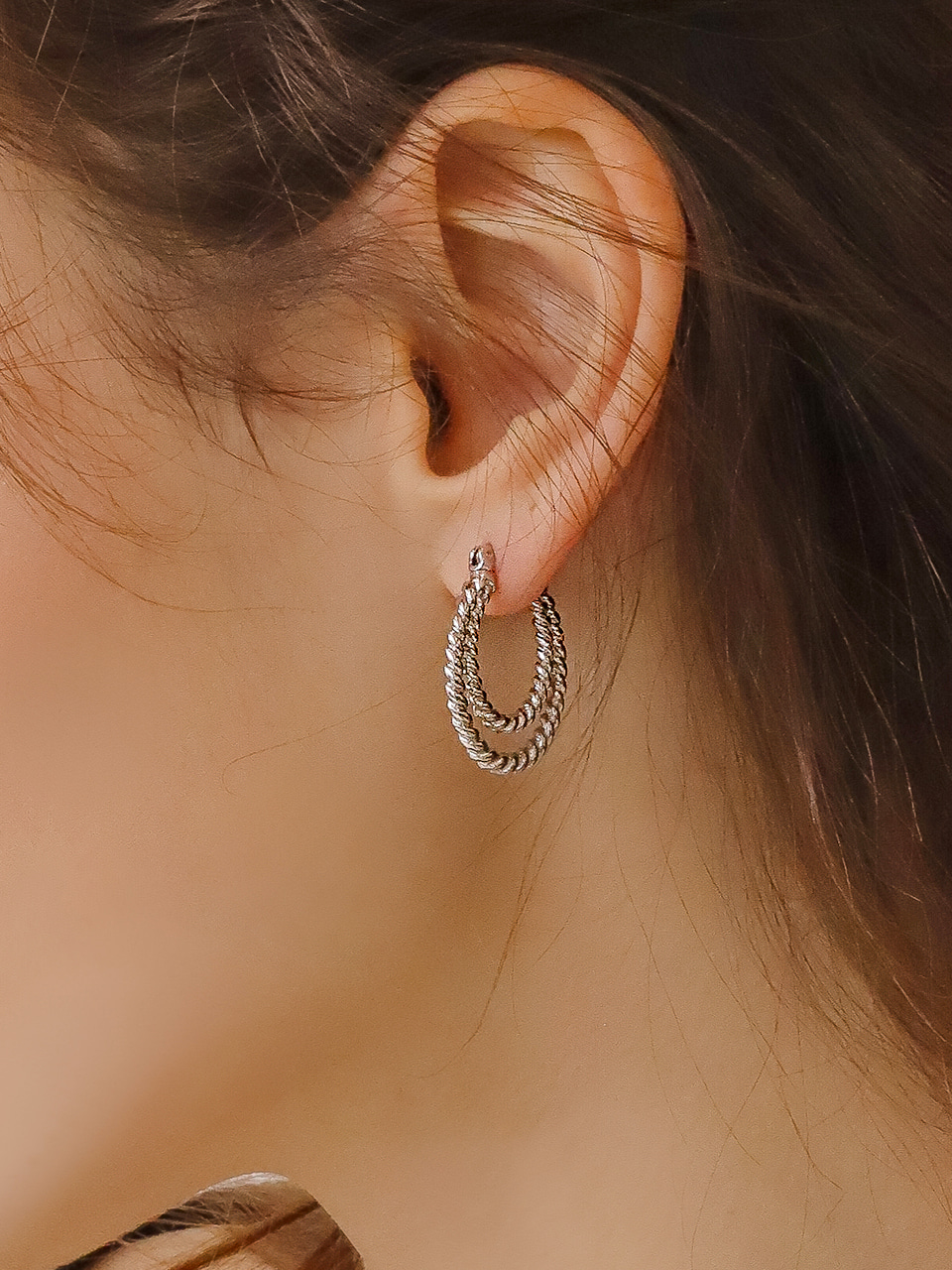 double rope earring